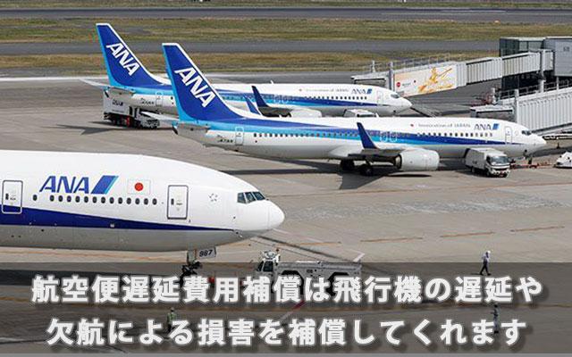 航空便遅延費用補償は飛行機の遅延や欠航による損害を補償してくれます